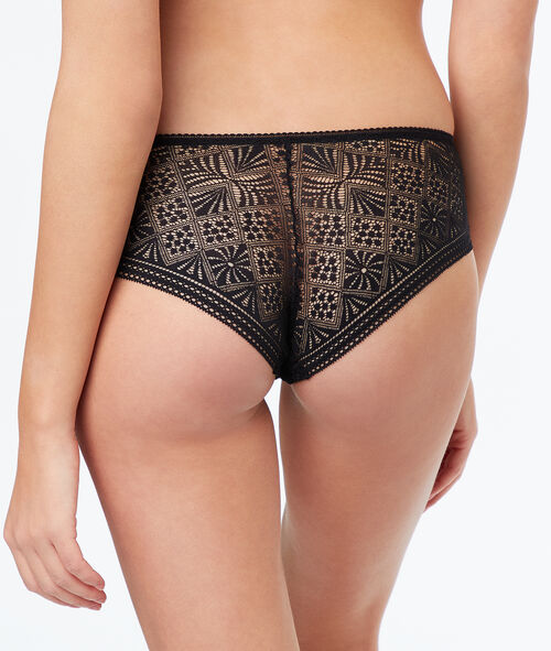Ornate lace shorts