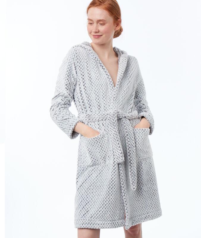 Ultra soft mesh negligée gray.