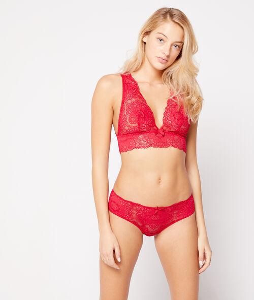 Floral lace triangle bra