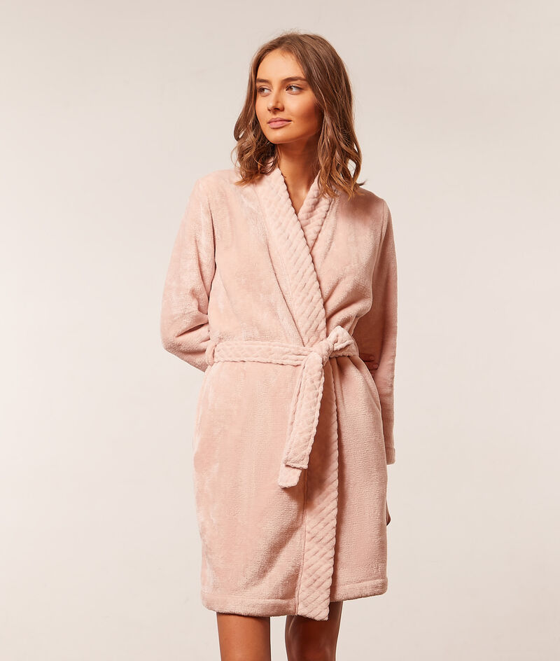 Fleece kimono ;${refinementColor}
