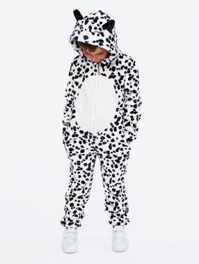 Kids dalmatian onesie ecru.