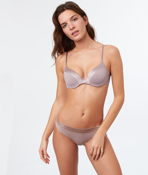 Micro padded demi cup bra, D cup
