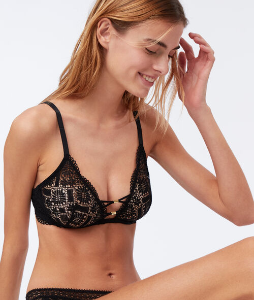 Non-padded bra with ties