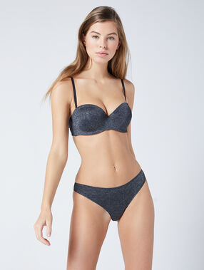 Microfibre band bra anthracite.