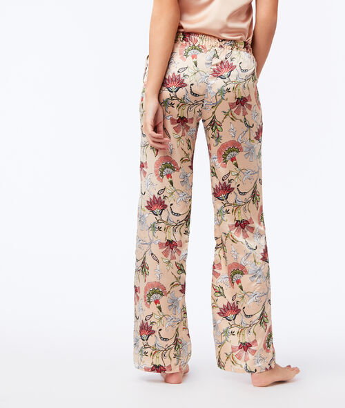 Large satin trousers
