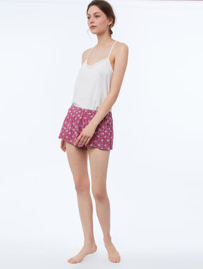 Printed shorts burgundy.