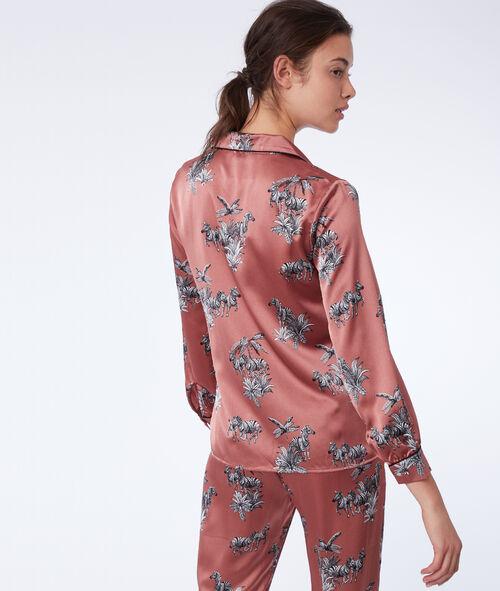 Zebra print pyjama shirt