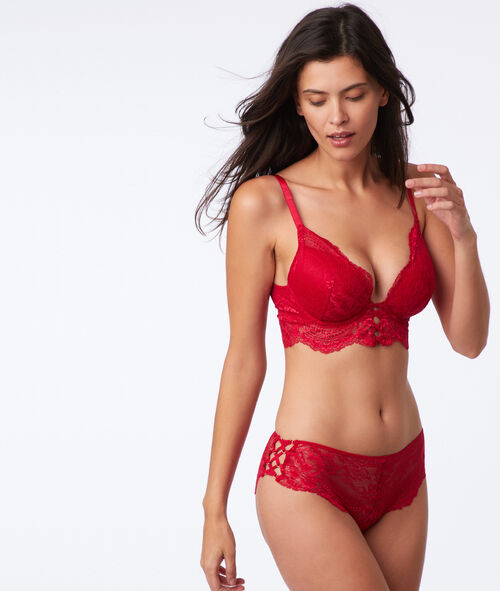 Bra n°5 - Classic padded lace bra with ties