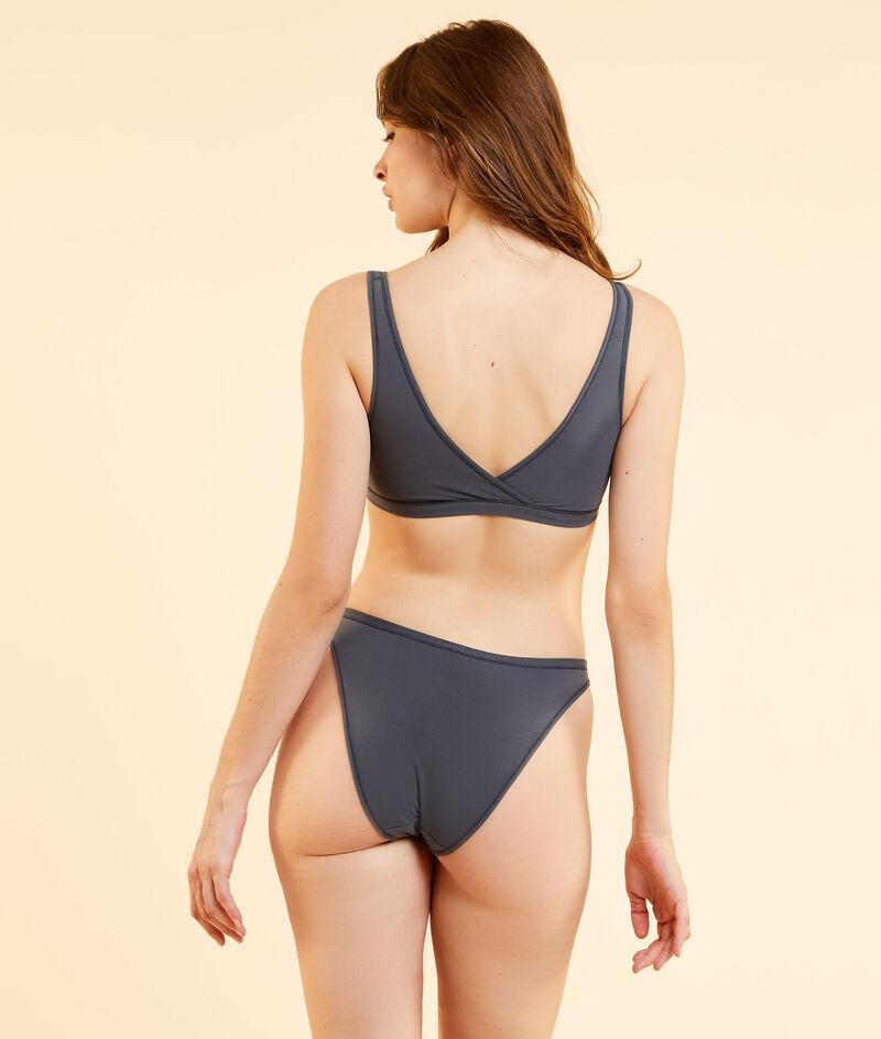 Reversible stretchy organic cotton bra;${refinementColor}