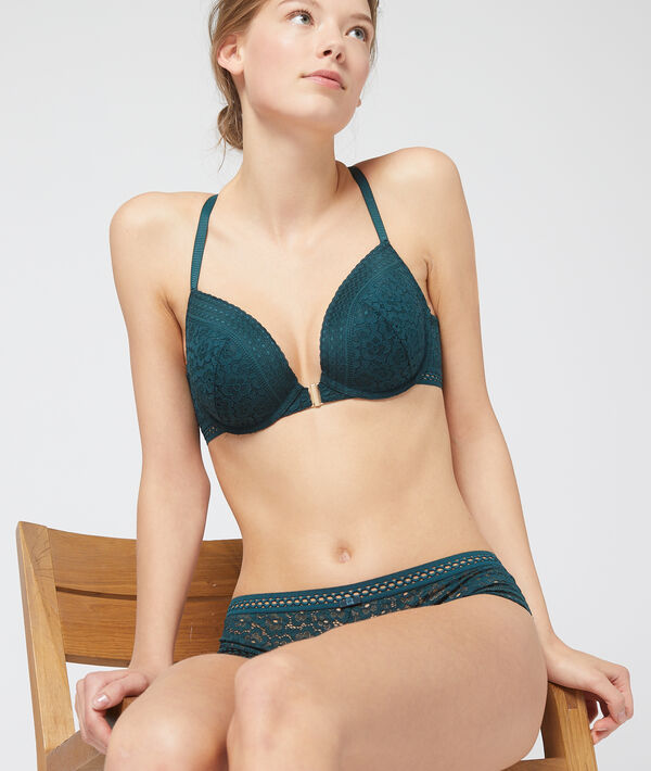 Bra n°5 - Floral lace padded bra