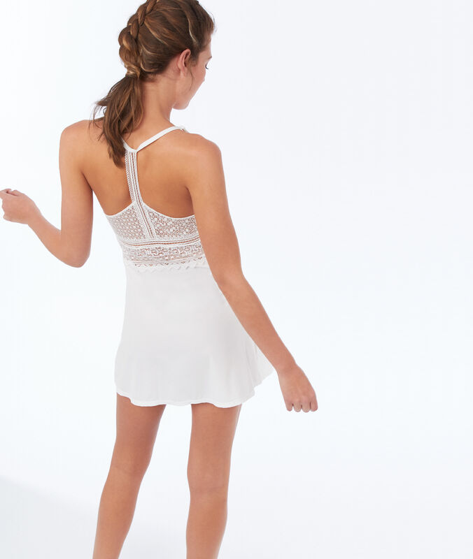 All-lace bust nightie ecru.