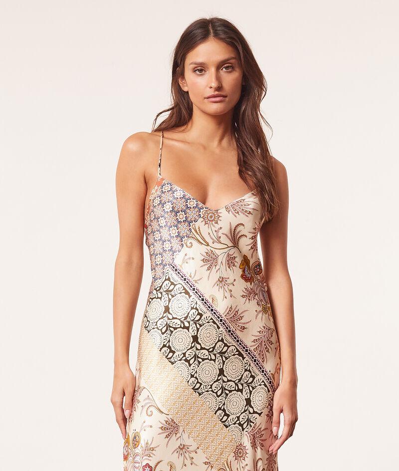 Long halter top nightdress ;${refinementColor}