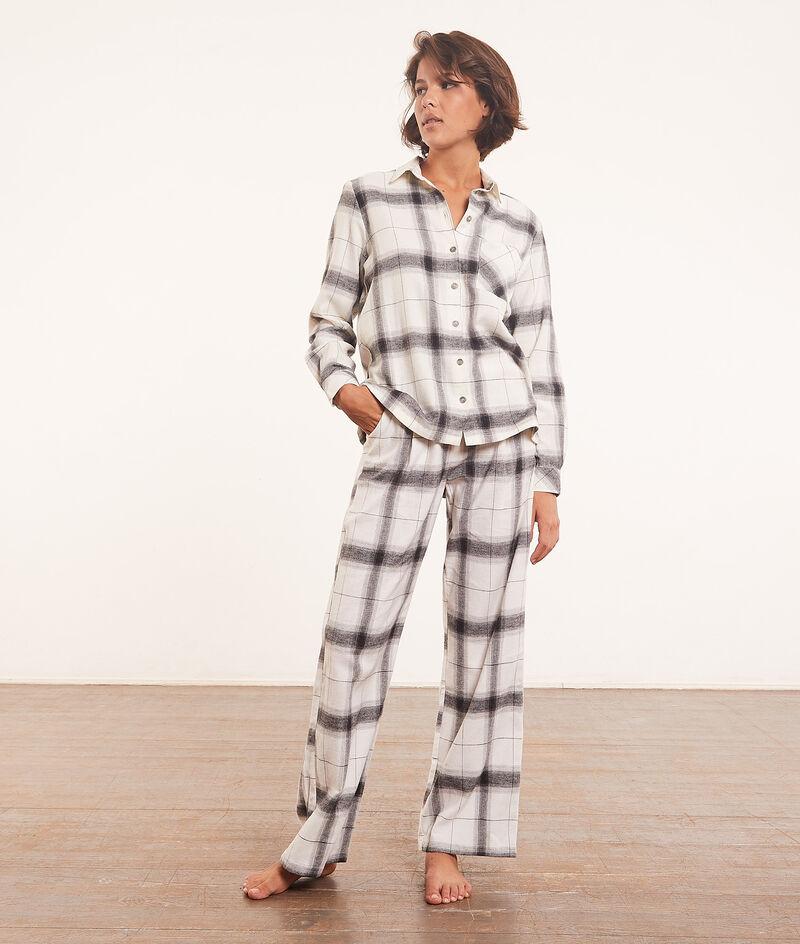 Checked pyjama shirt - Photo Pb ;${refinementColor}