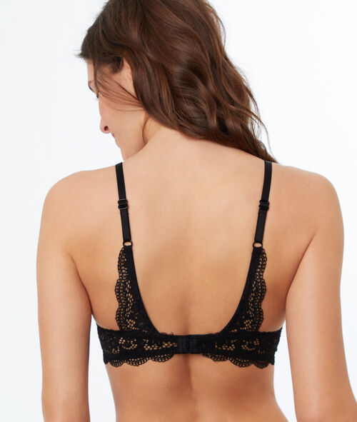 Lace and mesh push-up bralette