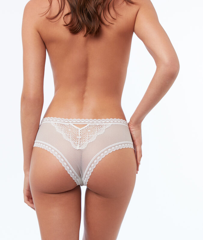 High waist lace hipster white.