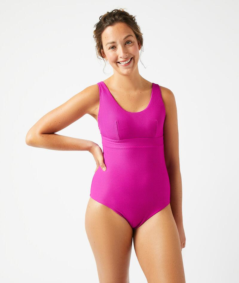 One-piece post mastectomy swimsuit;${refinementColor}