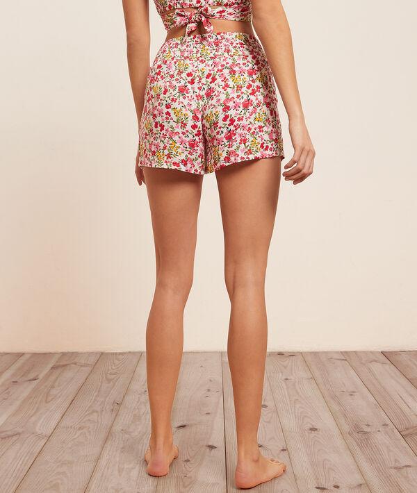 Floral print pajama shorts;${refinementColor}