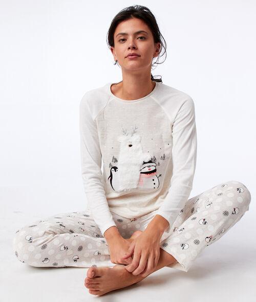 Snowman pyjama trousers