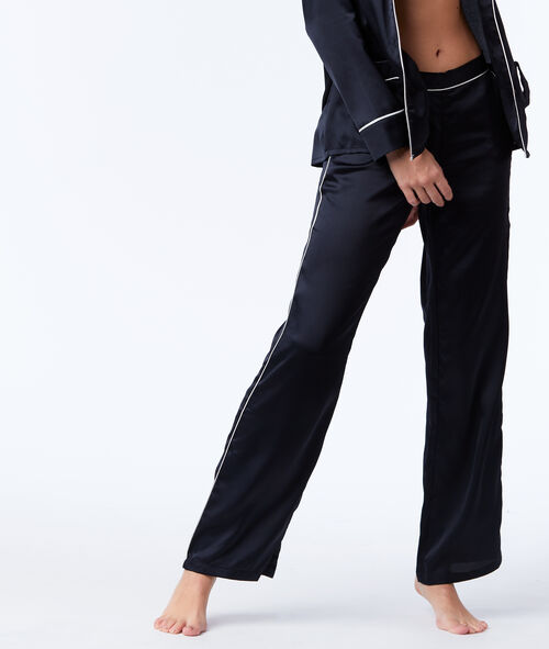 Satin pyjama trousers