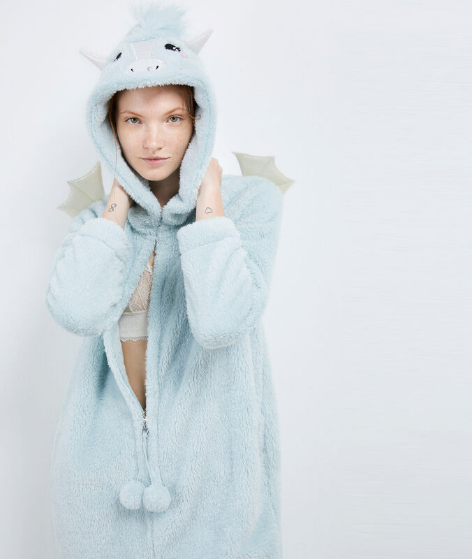 Dragon onesie sky blue.