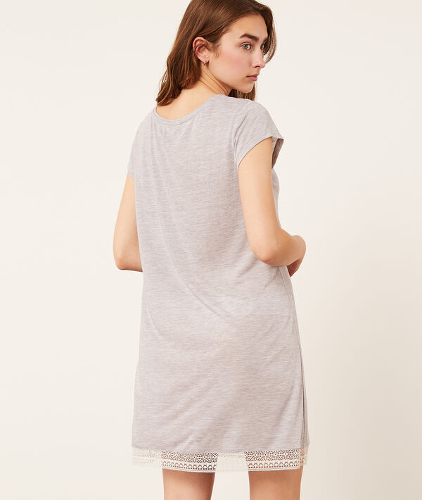 Nightshirt with lace hem;${refinementColor}