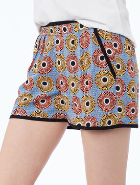 Printed shorts blue.