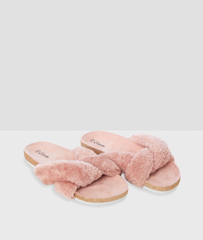 Open slippers pink.
