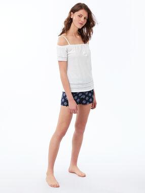 Printed shorts navy blue.