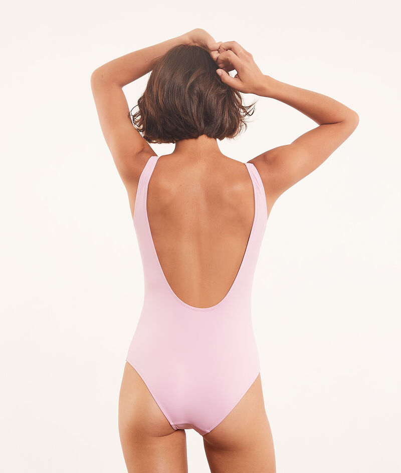 """""""Sunset and Shell"""" one-piece swimsuit  ;${refinementColor}"""
