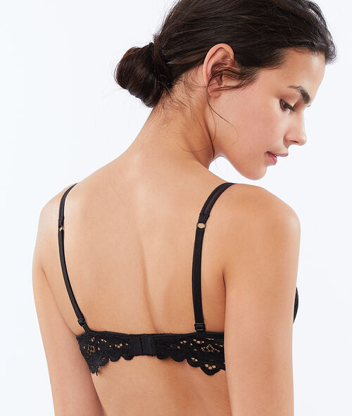 Bra No. 2 - Lace plunging push-up bra