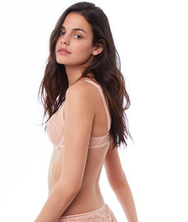 Lace bra, no padding natural.