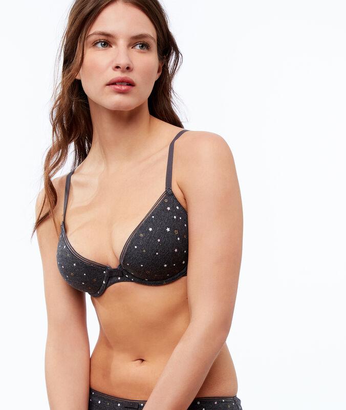 Classic bra, light padding gray.