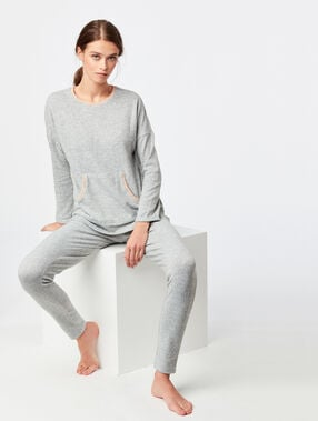 Mottled leggings gray.