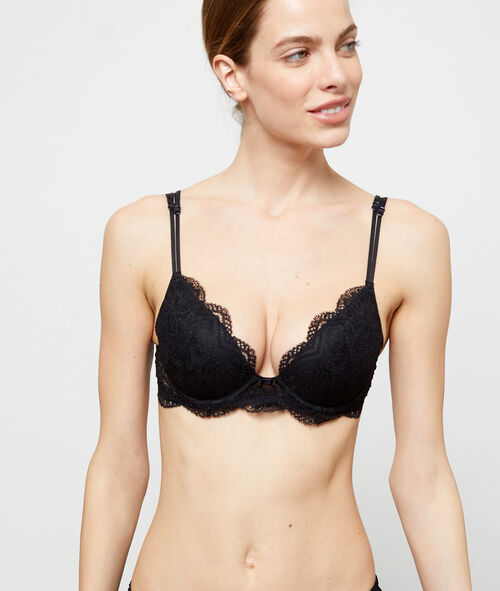 Bra no. 2 - Lace plunge push-up bra