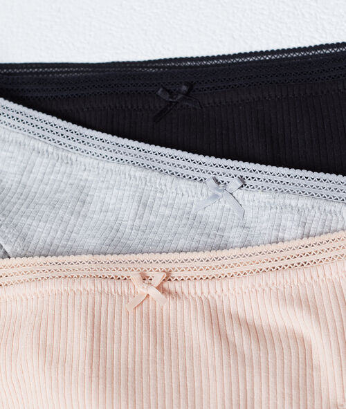3 pack ribbed knickers
