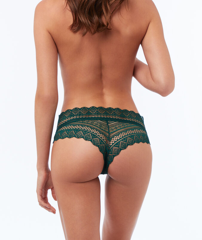Lace hipsters green.