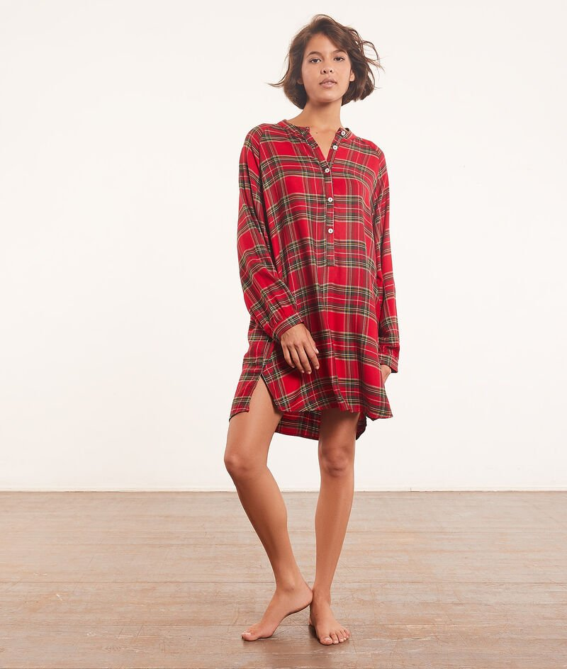 Checked nightdress ;${refinementColor}