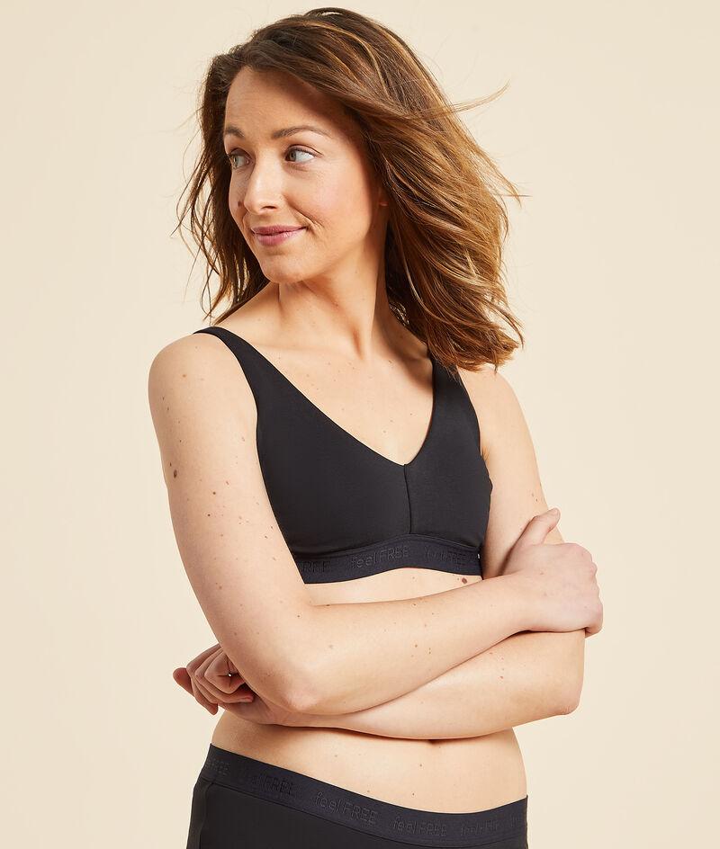 Non-wired post-mastectomy triangle bra;${refinementColor}