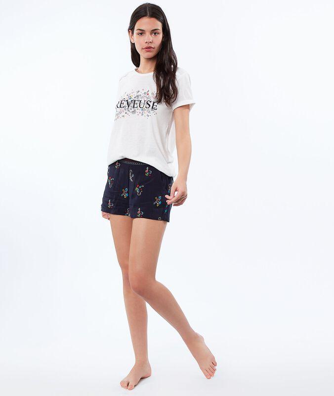 Printed shorts blue.