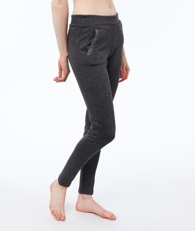 Velmi měkké podšité domácí kalhoty šedá.