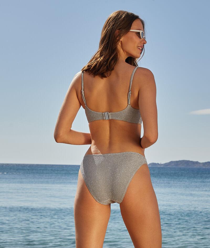 Iridescent non-wired bikini top;${refinementColor}