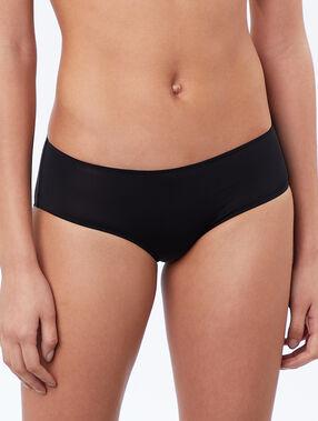 Microfiber shorts black.