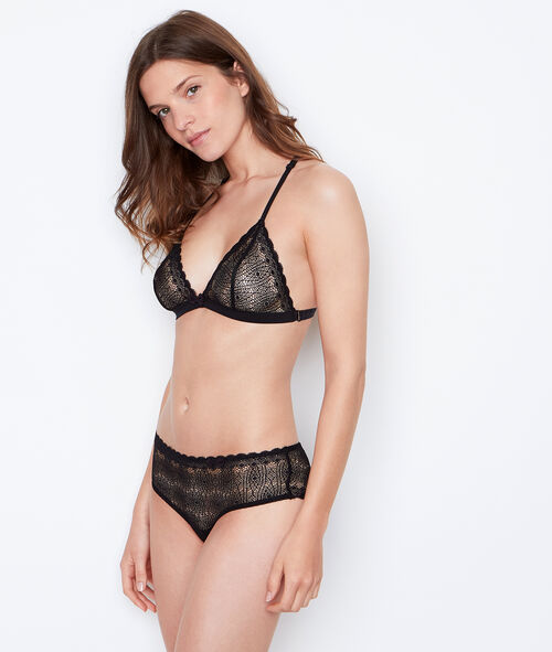 Lace, racer back, non-wired triangle bra