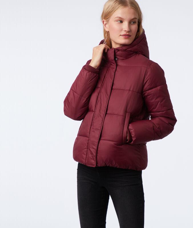 Short hooded fleece jacket anemone.