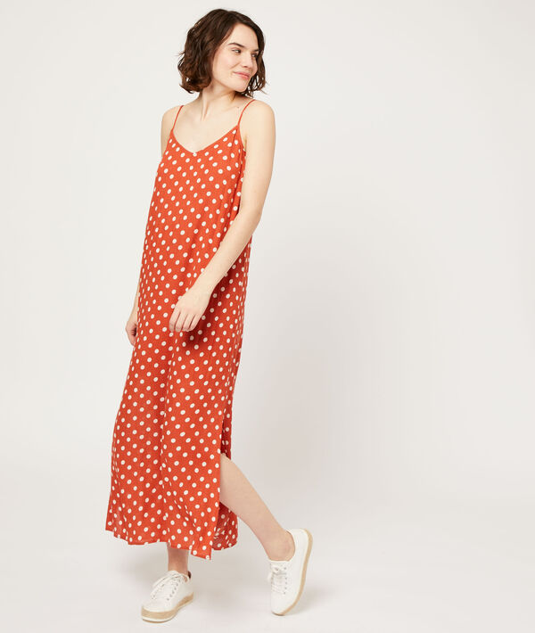 Long dress with low-cut back