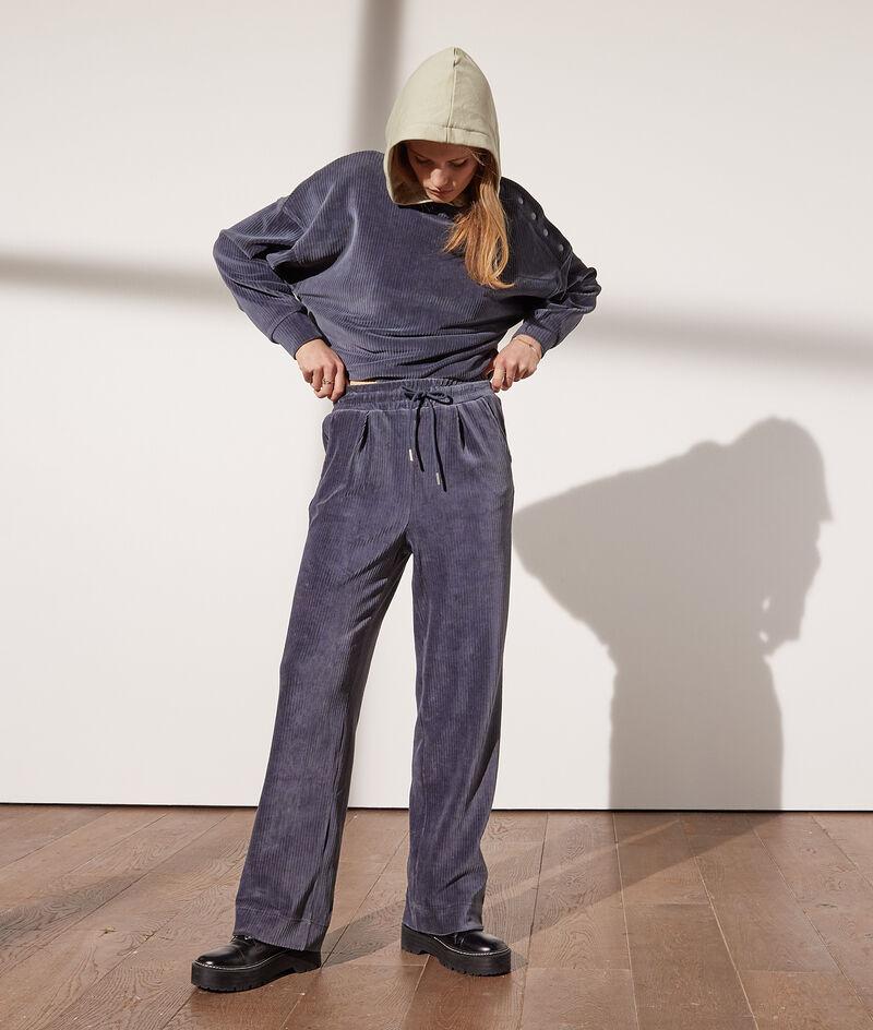 Pantalon en velours côtelé