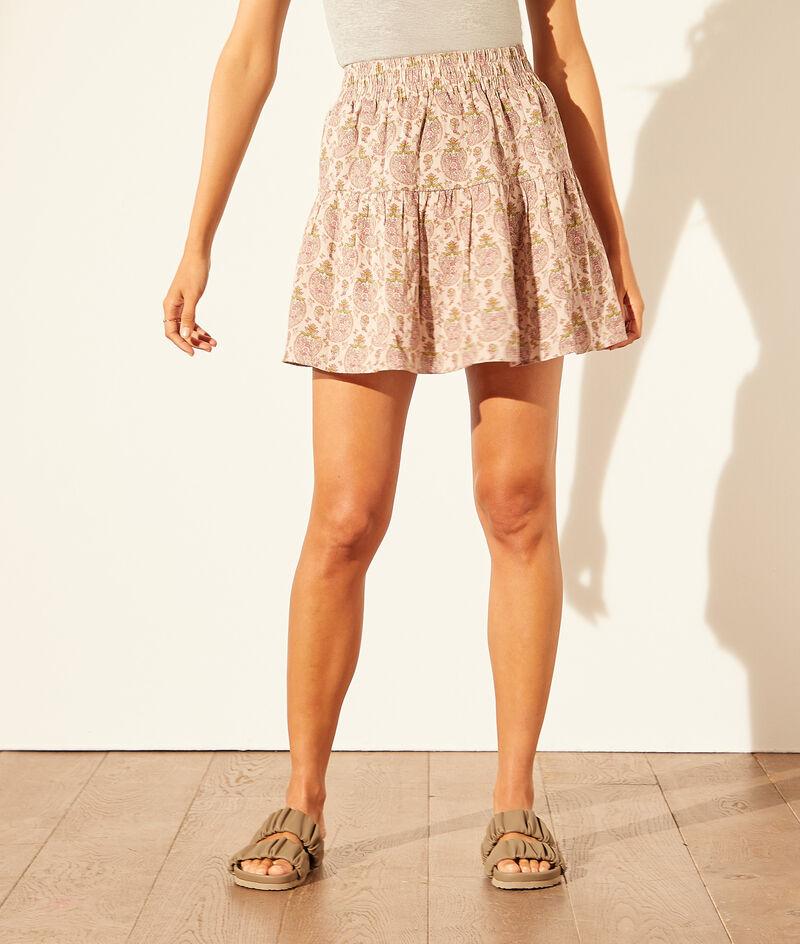 Short printed skirt