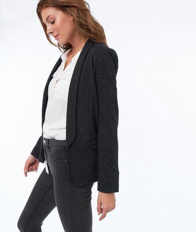 Shawl collar suit jacket black.