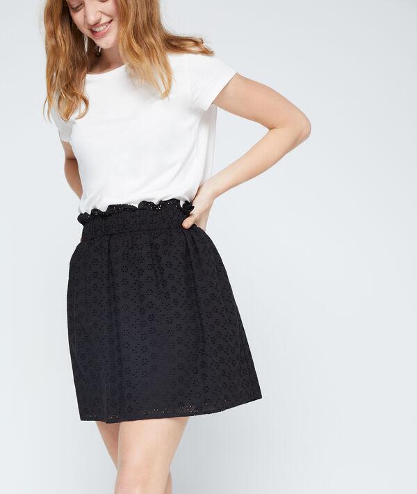Broderie cotton skirt