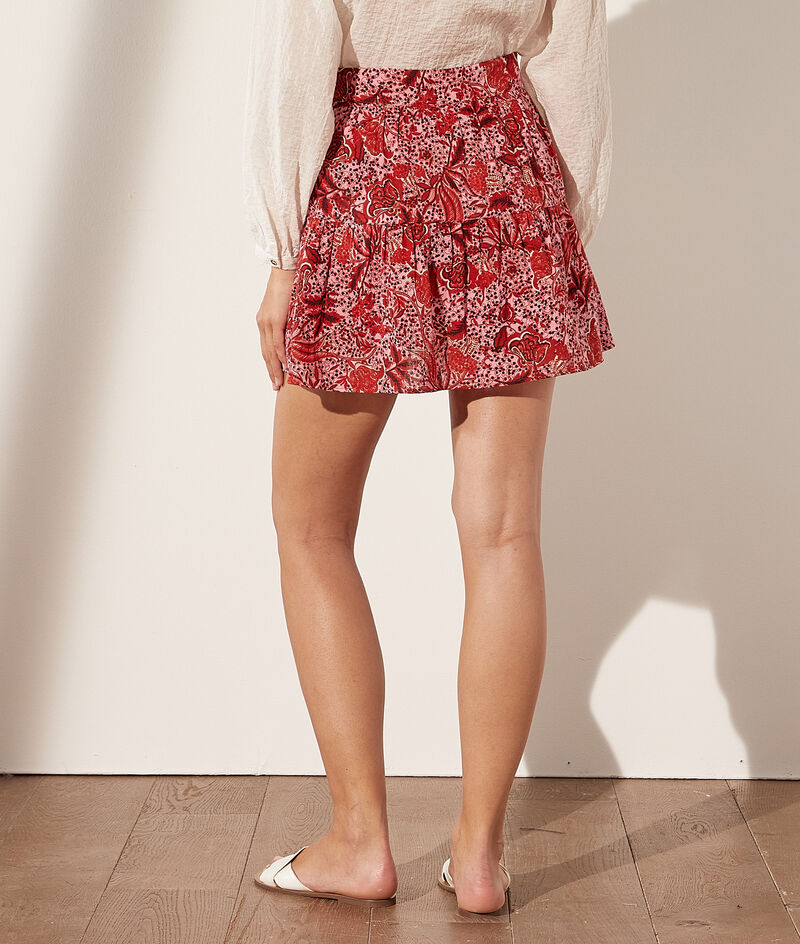Short print skirt
